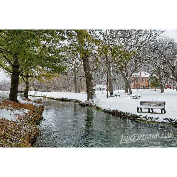 Siewer Springs With Hjelle House Decorah Iowa - Art Print - Kari Yearous Photography WinonaGifts KetoGifts LoveDecorah