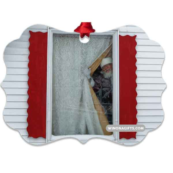 Special Santa House Ornament