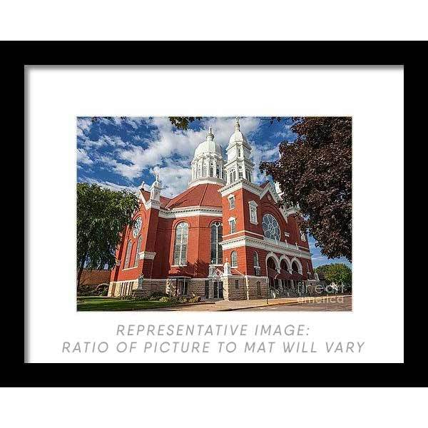 St. Stan's Front Full View - Framed Print - Kari Yearous Photography WinonaGifts KetoGifts LoveDecorah