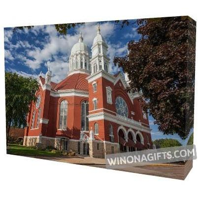 "Canvas Wrap 5"" x 7"" St Stan's Minor Basilica Winona Minnesota - Kari Yearous Photography WinonaGifts KetoGifts LoveDecorah"