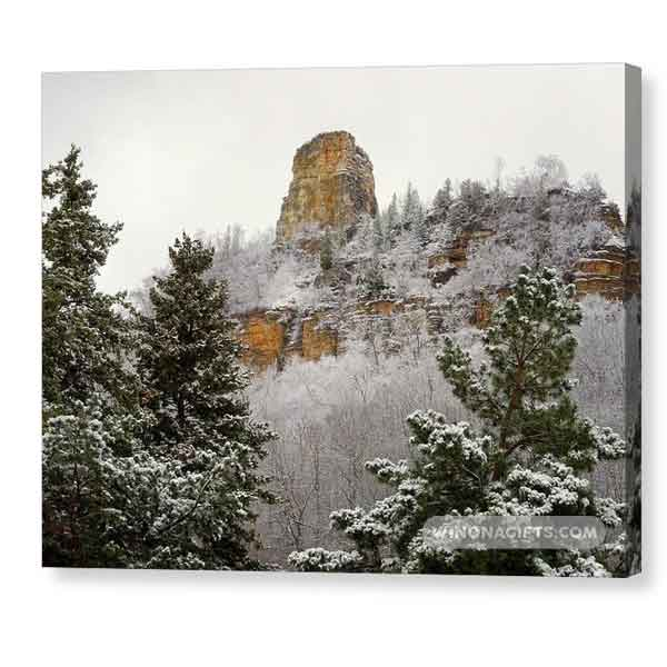 Sugarloaf With Frosty Evergreens - Canvas Print - Kari Yearous Photography WinonaGifts KetoGifts LoveDecorah