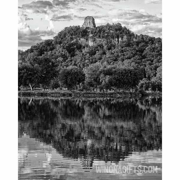 Sugarloaf Winona In Black And White - Art Print - Kari Yearous Photography WinonaGifts KetoGifts LoveDecorah