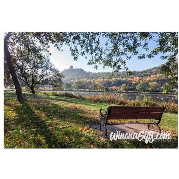 Sugarloaf Winona Seat With A View - Art Print - Kari Yearous Photography WinonaGifts KetoGifts LoveDecorah