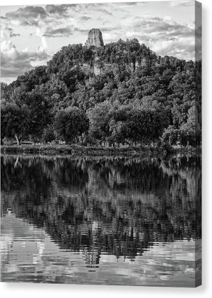 Sugarloaf Winona In Black And White - Canvas Print - Kari Yearous Photography WinonaGifts KetoGifts LoveDecorah