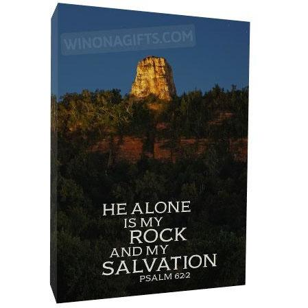 Winona Minnesota Sugarloaf Canvas Wrap, 5x7, He Alone Is My Rock