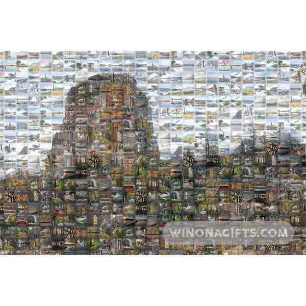 Sugarloaf Winona Minnesota Mosaic - Art Print - Kari Yearous Photography WinonaGifts KetoGifts LoveDecorah