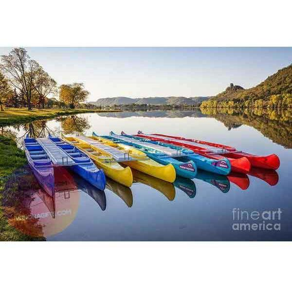 Canoes in the Early Morning Winona Minnesota Art Print. - Kari Yearous Photography WinonaGifts KetoGifts LoveDecorah