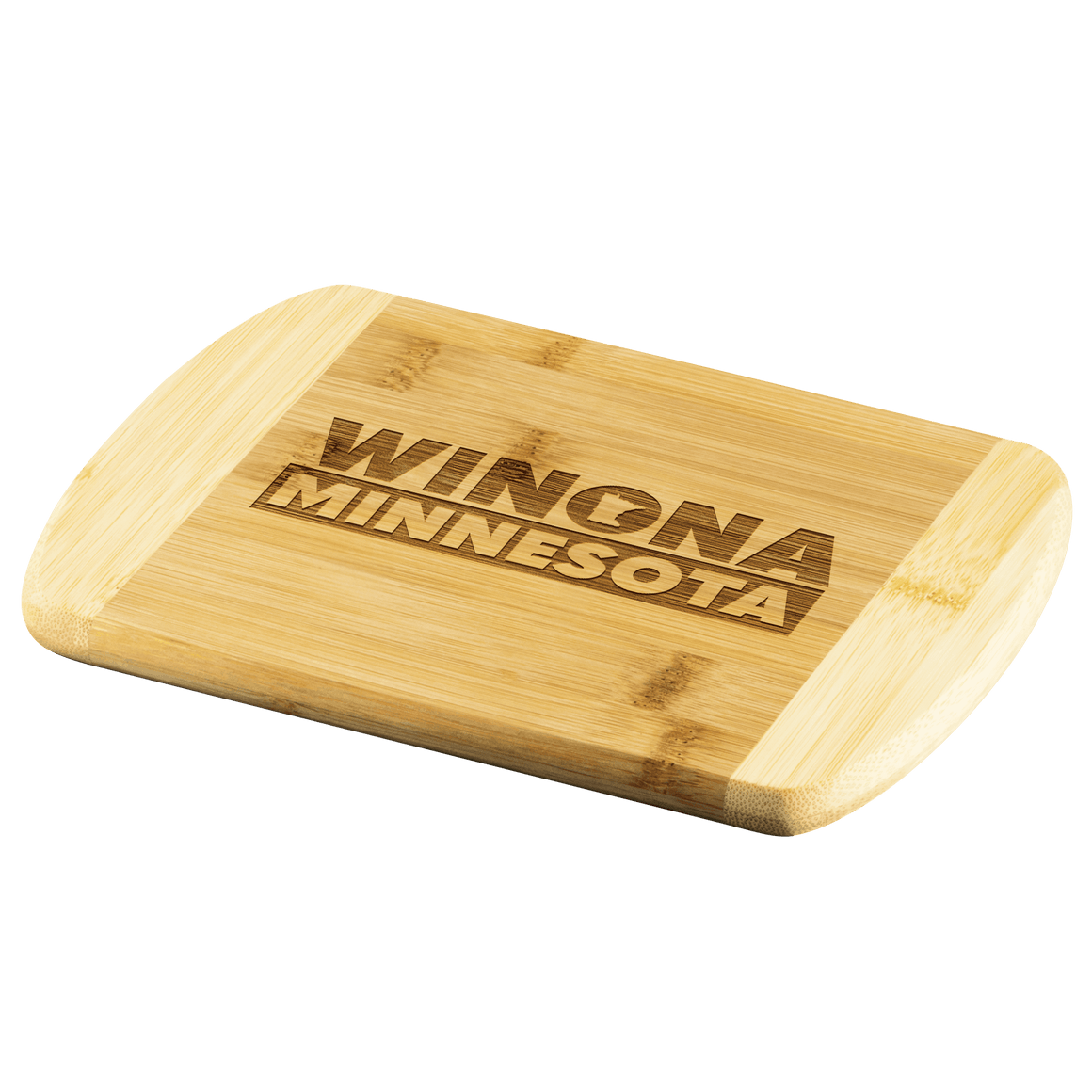 Winona Minnesota Cutting Board, State Shape In O - Kari Yearous Photography WinonaGifts KetoGifts LoveDecorah