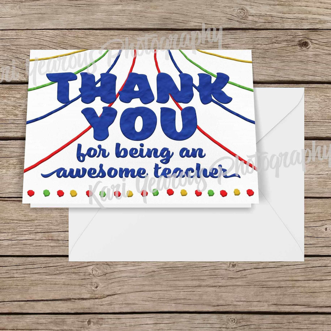 Kindergarten Teacher Preschool Teacher Thank You Card