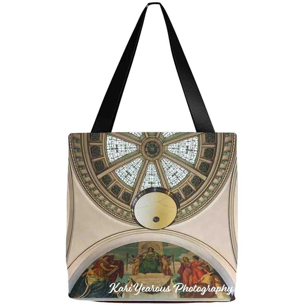 Tote Bag Winona Minnesota Public Library Dome & Mural - Kari Yearous Photography WinonaGifts KetoGifts LoveDecorah
