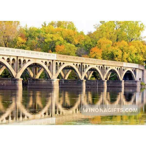 Latsch Island Wagon Bridge In Autumn Winona Mn - Art Print - Kari Yearous Photography WinonaGifts KetoGifts LoveDecorah