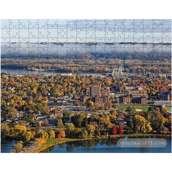 Winona Minnesota Puzzle City View from Garvin Heights