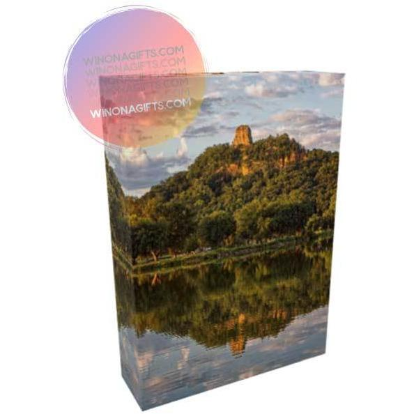 "Canvas Wrap Sugarloaf Reflection Winona Minnesota, Size 5"" x 7"" - Kari Yearous Photography WinonaGifts KetoGifts LoveDecorah"