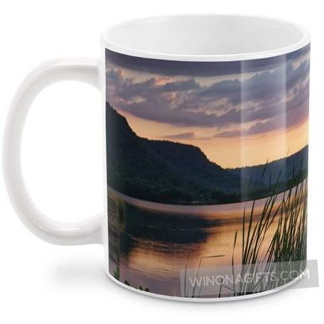 Winona Minnesota Coffee Mug, Summer Sunset - Kari Yearous Photography KetoLaughs