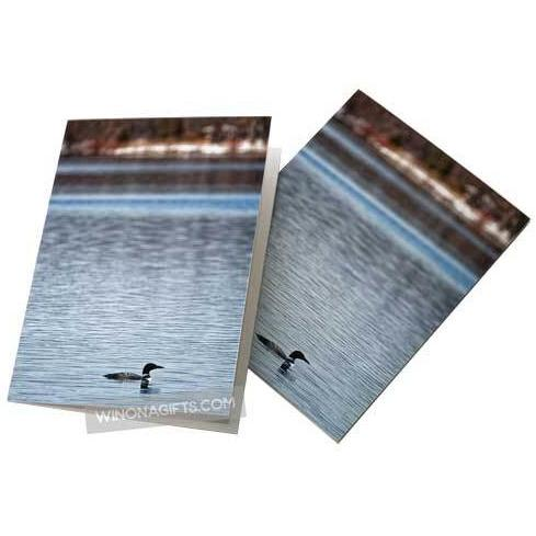 Winona Minnesota Loon Notecard, Small Size - Kari Yearous Photography WinonaGifts KetoGifts LoveDecorah