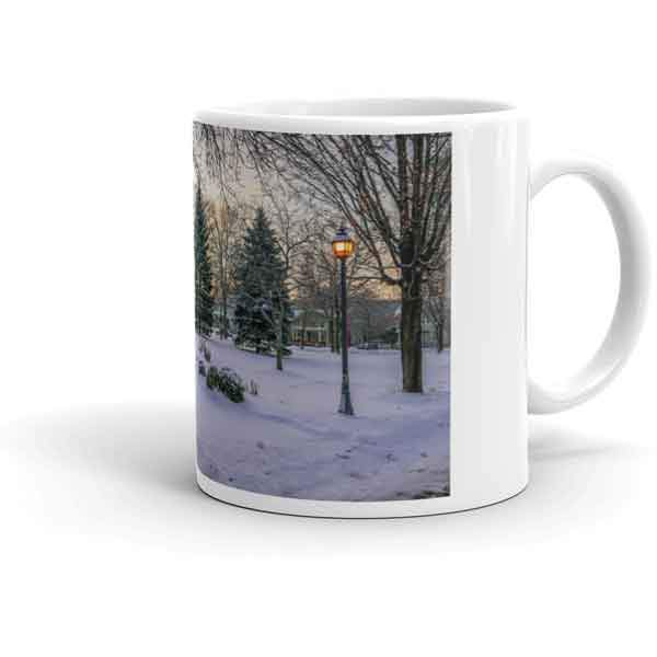 Mug Snowy Gazebo at Windom Park Winona Minnesota - Kari Yearous Photography WinonaGifts KetoGifts LoveDecorah