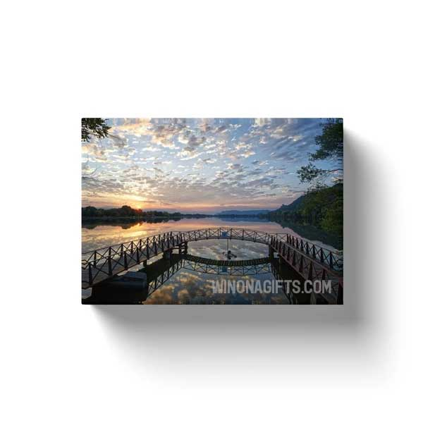 "Canvas Wrap Sunrise Winona Minnesota, 5"" x 7"" - Kari Yearous Photography WinonaGifts KetoGifts LoveDecorah"