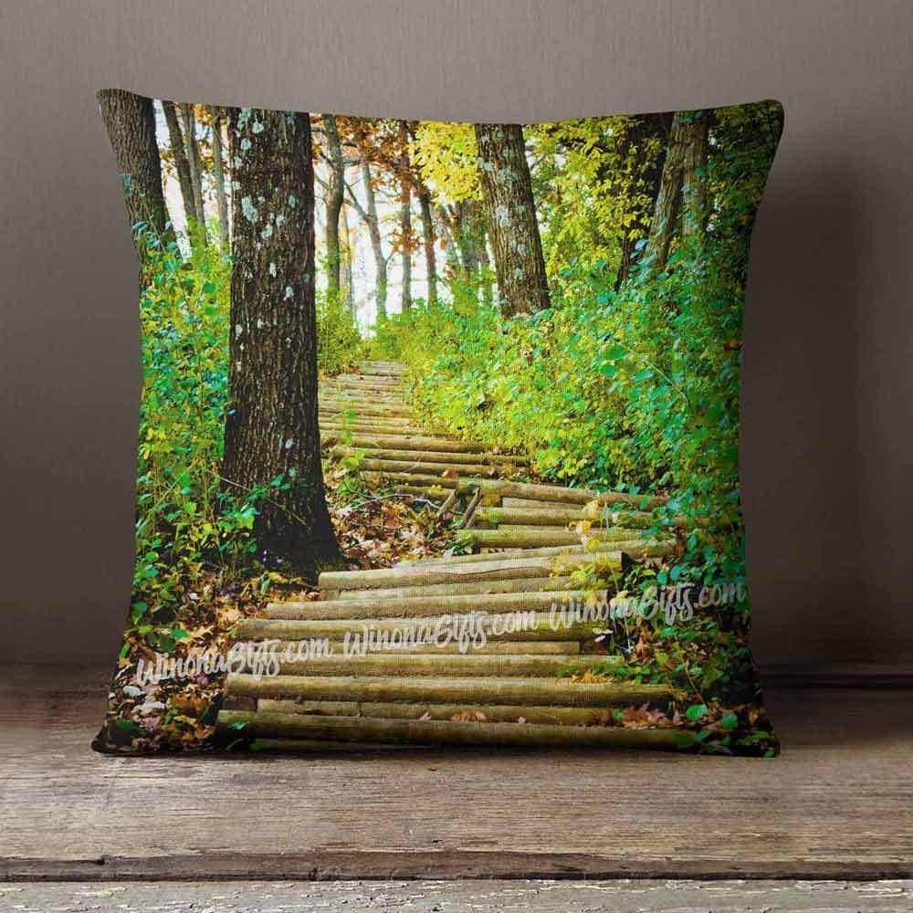 Pillow Garvin Heights Steps in Winona, MN - Kari Yearous Photography WinonaGifts KetoGifts LoveDecorah