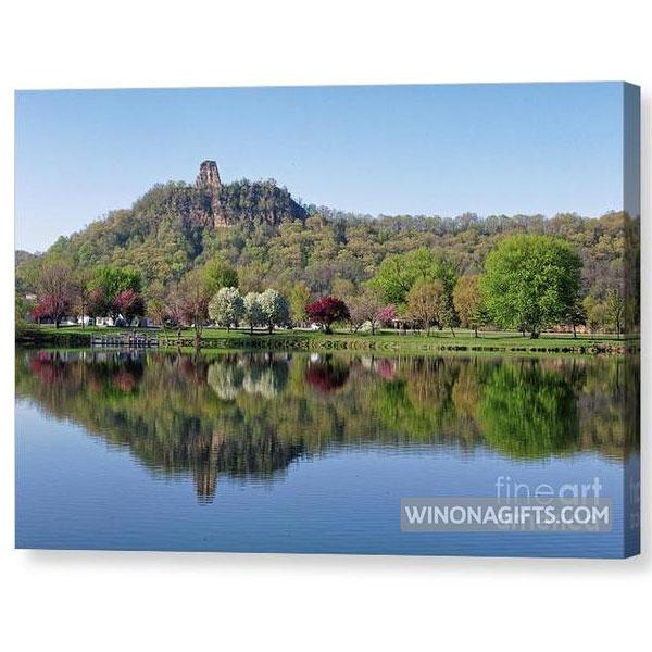 Spring Sugarloaf With Reflections - Canvas Print - Kari Yearous Photography WinonaGifts KetoGifts LoveDecorah
