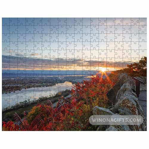 Garvin Heights Sunrise Puzzle Winona Minnesota - Kari Yearous Photography WinonaGifts KetoGifts LoveDecorah