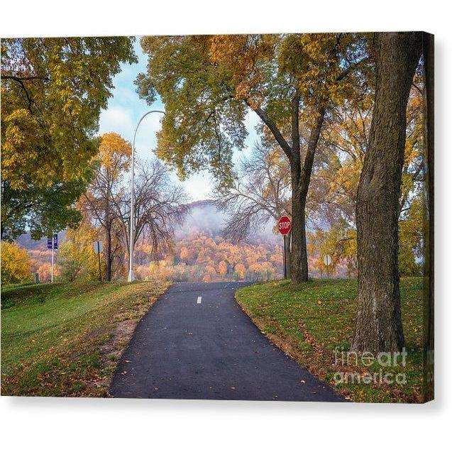 Winona Mn Photograph Autumn Rise - Canvas Print