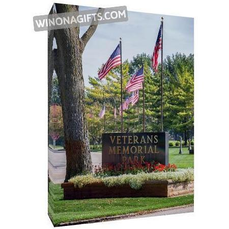 "Canvas Wrap 5"" x 7"" Veterans Memorial Winona Minnesota - Kari Yearous Photography WinonaGifts KetoGifts LoveDecorah"