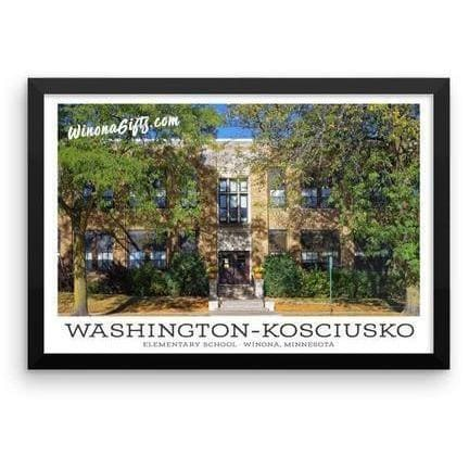 Framed Poster W-K Elementary School Winona, Minnesota - Kari Yearous Photography WinonaGifts KetoGifts LoveDecorah