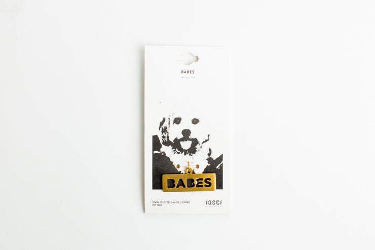 BABES DOG TAG Pet Tag - Jaeci Jewlery