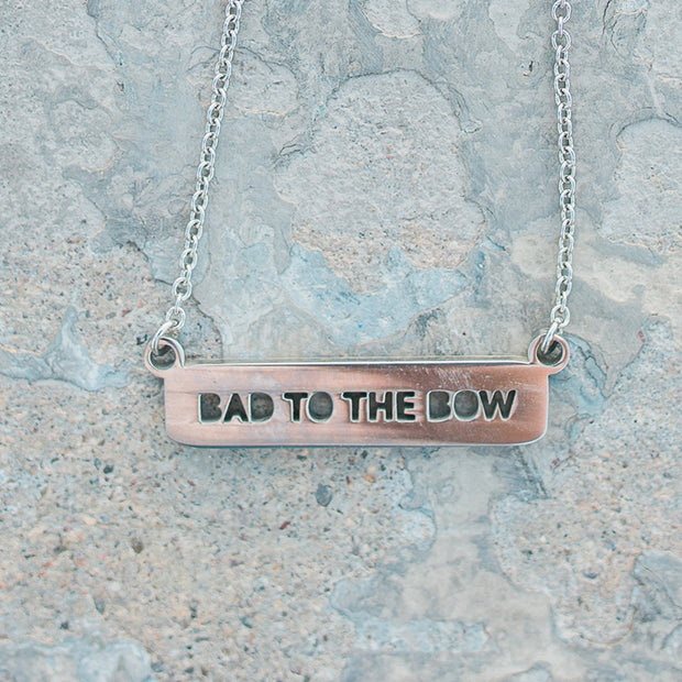 Bad To The Bow Bar Necklace Short Necklace - Jaeci Jewlery