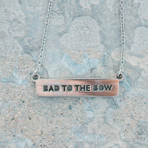 Bad To The Bow Bar Necklace
