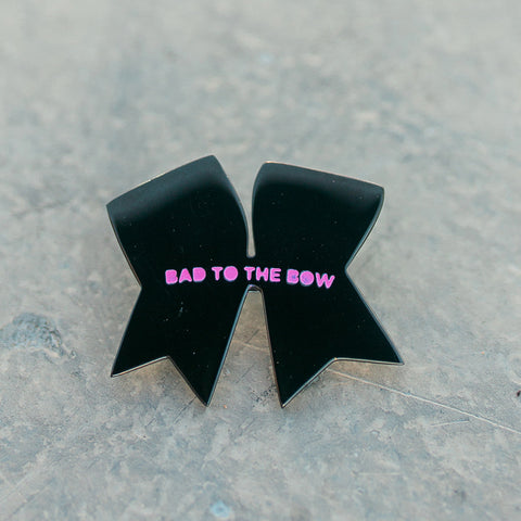 Bad To The Bow Enamel Pin