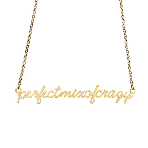 Perfect Mix of Crazy Script Necklace  - Jaeci Jewlery