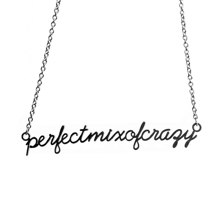 Perfect Mix of Crazy Script Necklace