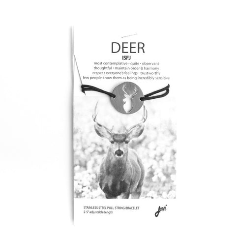 DEER SPIRIT ANIMAL BRACELET ISFJ