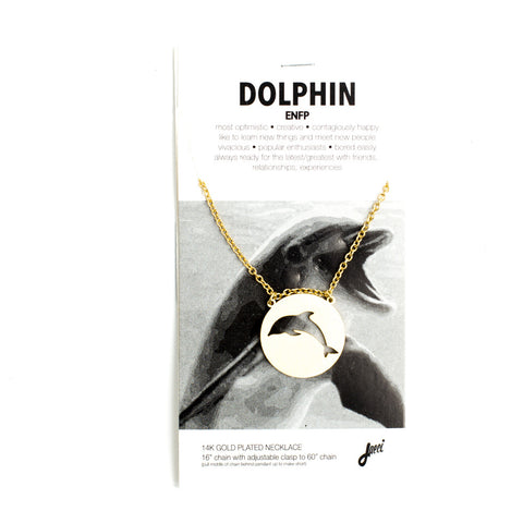 Dolphin Spirit Animal Necklace ENFP