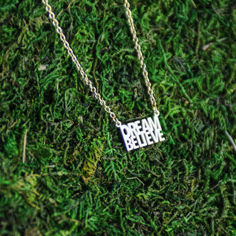 Do. Dream. Believe. Delicate Necklace  - Jaeci Jewlery