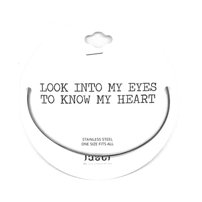 Look Into My Eyes to Know My Heart Bangle