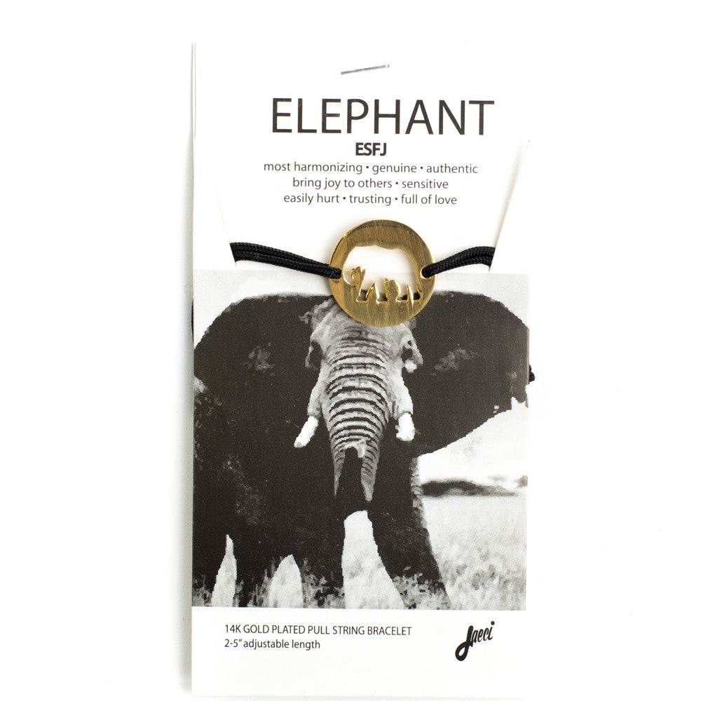 Elephant Spirit Animal Bracelet ESFJ