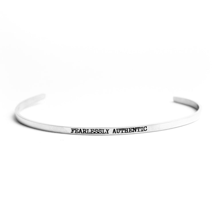 FEARLESSLY AUTHENTIC DELICATE BANGLE Religious Delicate Cuff Bangle - Jaeci Jewlery