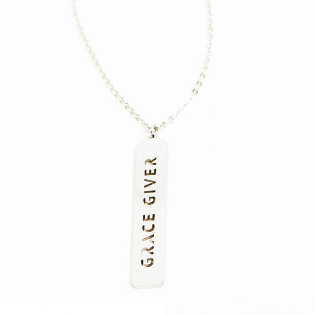 Grace Giver Cutout Necklace Religious Jewelry - Jaeci Jewlery