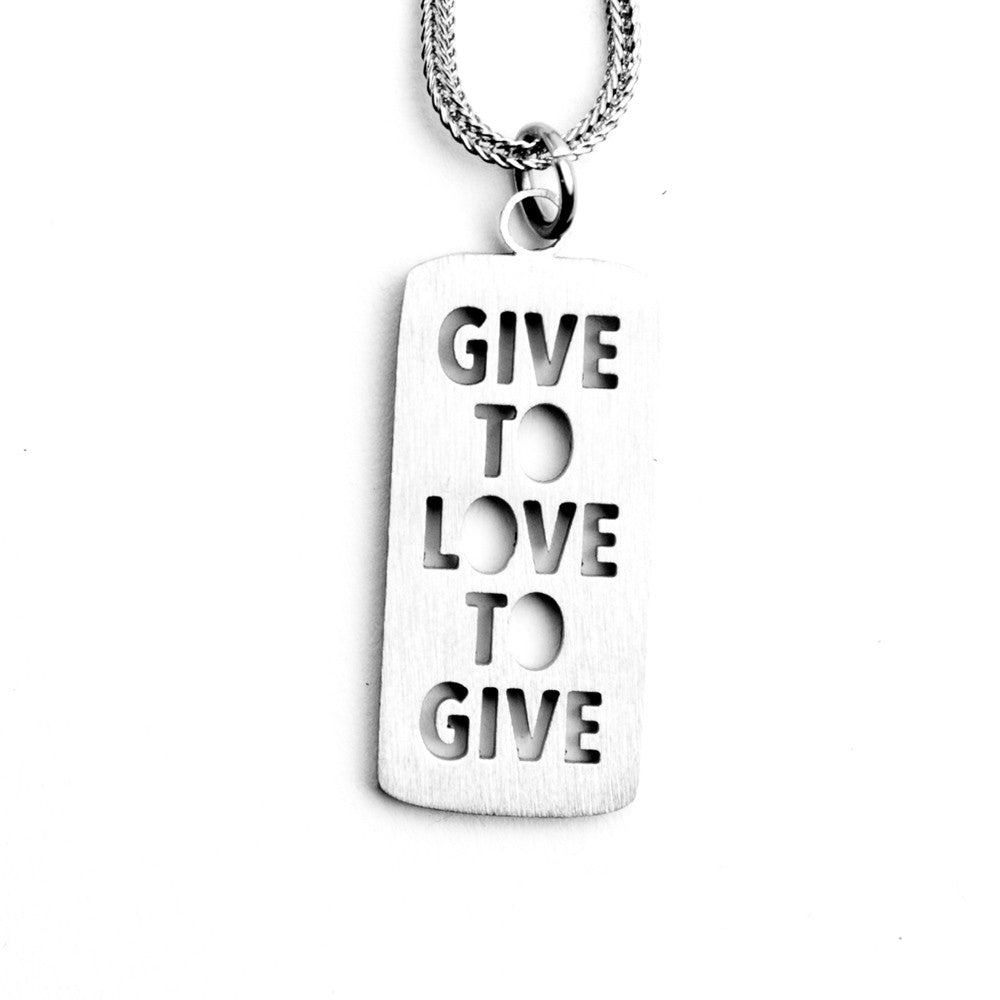 GIVE TO LOVE  LOVE TO GIVE NECKLACE  - Jaeci Jewlery