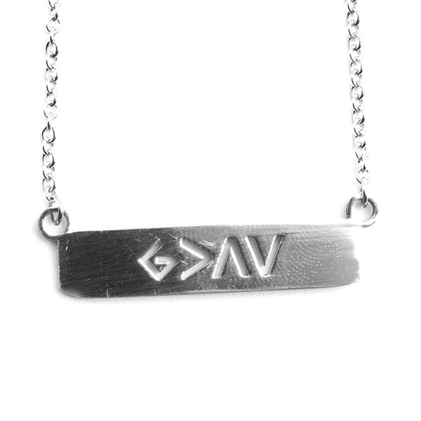 BELIEVING BELIEVER GOLD BAR NECKLACE