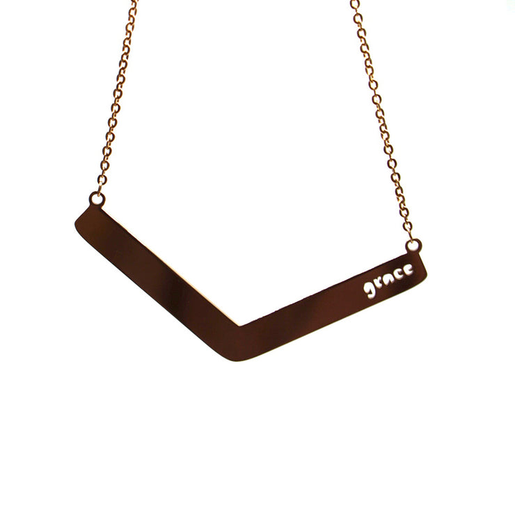 Grace Angle Bar Necklace Religious Jewelry - Jaeci Jewlery
