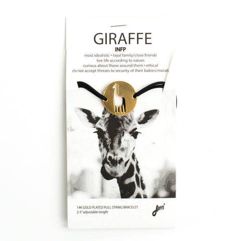 Giraffe Spirit Animal Bracelet INFP