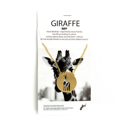 Giraffe Spirit Animal Necklace INFP