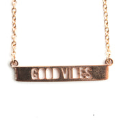 Delicate Good Vibes Necklace Short Necklace - Jaeci Jewlery
