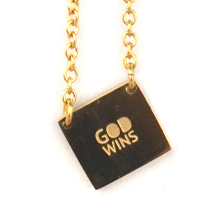 GOD WINS NECKLACE Religious Jewelry - Jaeci Jewlery