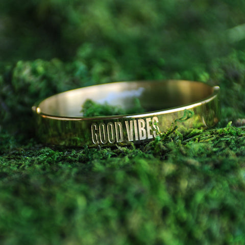 Good Vibes Link Bangle  - Jaeci Jewlery