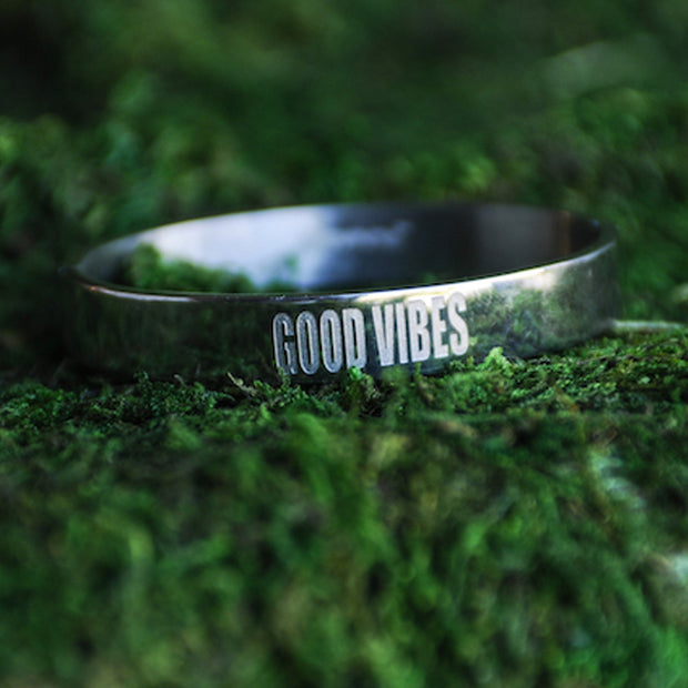 Good Vibes Link Bangle Discontinued - Jaeci Jewlery