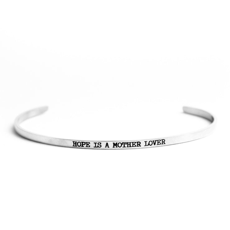 HOPE IS A MOTHER LOVER DELICATE BANGLE Religious Delicate Cuff Bangle - Jaeci Jewlery